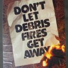 Vintage 1978 Debris Fire Prevention Poster USDA Forest Service (Cardboard)