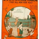 Vintage Sheet Music Down On The Farm 1923 Politzer Cover Art