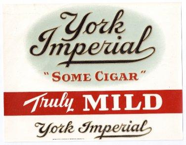 Cigar Box Label York Imperial Embossed Inner Vintage