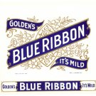 Cigar Box Label Golden's Blue Ribbon Vintage