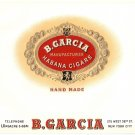 Cigar Box Label B. Garcia Embossed Coins Crest Vintage