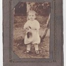Antique Sepia Photograph Child Fashion White Knickers Mary Jane shoes