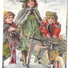 Victorian Trade Card Dr Free's York PA Dental Parlors Children Wheelbarrow firewood