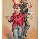 Victorian Trade Card Clothier John Wanamaker Philadelphia Boy w Top Hat Smoking