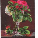 Victorian Trade Card Roses Michaels The Tailor George St York PA