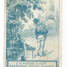 Victorian Trade Card New York F O Pierce Fulton St Prepared House Paints