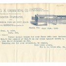 1898 Illustrated Letterhead Champion Evaporator G H Grimm to Chas A Cole Peru IN