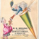 Victorian Trade Card HN Helfst New York City Confectionery Colonial Couple Candy Cone