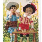 A B Seeley 1882 Victorian Trade Card Confectioner Hoefler Syracuse NY Children