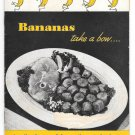 Meloripe Recipe Booklet Bananas Take a Bow Vintage Advertising Cookbook Illustrated