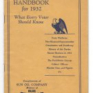 Sunoco Advertising Sun Oil Company Citizens Handbook 1932 Presidential Election