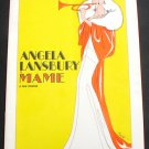 Souvenir Theater Program MAME Broadway Angela Lansbury Vintage Original 1966 Tony Award Winner