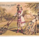 Victorian Trade Card Fairbanks Co. Pittsburgh PA Charter Oak Lawn Mower Ladies