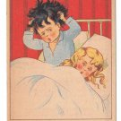 French Shampoo Victorian Trade Card La Milanaise Children Head Itchy Can't Sleep