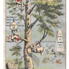 Victorian Trade Card Domestic Sewing Machine Tree Brownies Pixies Cemetery