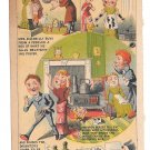 Rising Sun Stove Polish Victorian Trade Card Mrs Sillybillys Purchase Humor