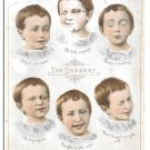 Pozzoni's Medicated Complexion Powder Trade Card The Dessert Children Facial Expressions
