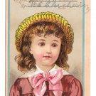 Antique Victorian Reward of Merit School Girl Card Bufford Litho Helen Wentworth