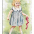Victorian Trade Card Stolberg & Parks Furniture for the Masses Toledo Ohio Girl Firecrackers