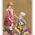 Victorian Trade Card Lavine Soap Hartford Chemical Co CT Colonial Girl and Boy on knee