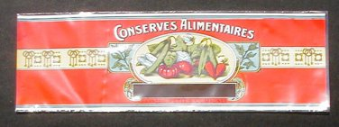 Conserves Vegetable Can Label Alimentaires Belgian Lithographed Malines Mechelen