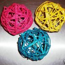 "4"" Colored Twine Balls bird toy parts parrots crafts (3)"