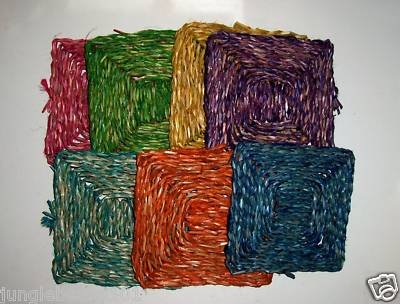 """6"""" Colored SEAGRASS Mats bird toys parrots parts crafts"""