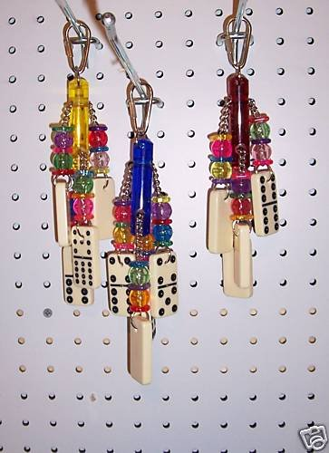 DOMINO JINGLER bird toy parrots cages greys amazons