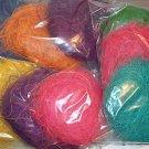 3pk Colored Coconut Fiber Patties bird toy parts parrots cages