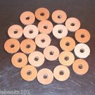 "1"" Leather Washers 5/16"" hole bird toy parts parrots cage perch"