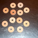 """12 1 1/4"""" LEATHER Washers 3/8"""" hole bird parrot toy parts veggie tan crafts"""