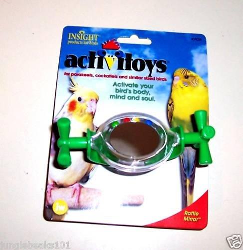 SPNNING MIRROR bird toy parts parrots cockatiel keets