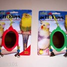 1 FANCY Bird MIRROR bird toy parts crafts rabbits chins