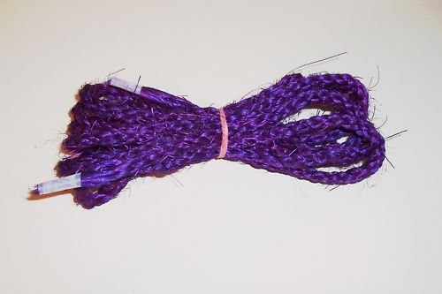 "1/2""  PURPLE SISAL Rope Unoiled bird toy parts 5' chins"