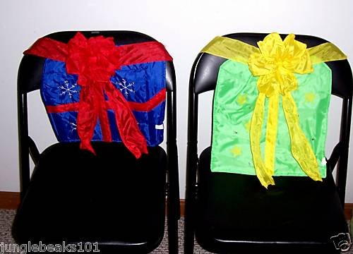 CHRISTMAS PRESENT Chair Covers toys decorations holiday