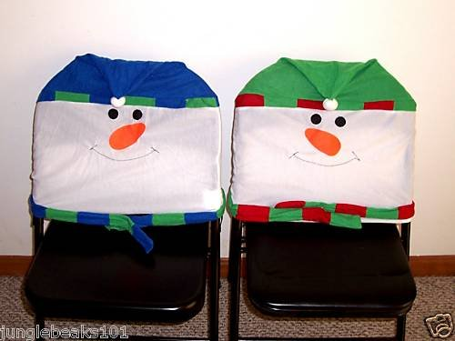 CHRISTMAS SNOWMAN Chair Covers toys decorations holiday