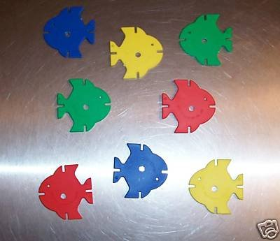 24 Small Drilled Fish bird toy parts parrots cages kids