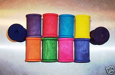 4 XLarge wood SPOOLS bird toy parts parrots cage crafts