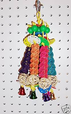 Carousel Chomping Jinglier bird toys 4 parrots cages