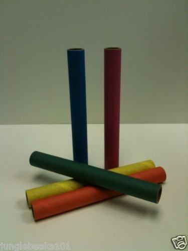 LRG Colored tubes shreddable bird toy part rabbit chin