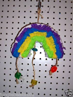 RAINBOW PINATA shreddable bird toy parts rabbits chins
