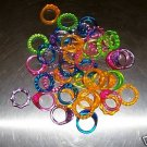 24 Finger Rings bird toy parts parrots cages crafts kids