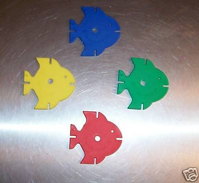 Large Drilled Fish bird toy parts 4 parrots cages toys