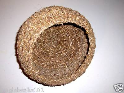 "8"" SEAGRASS BASKET bird toy parts crafts rabbits chins"