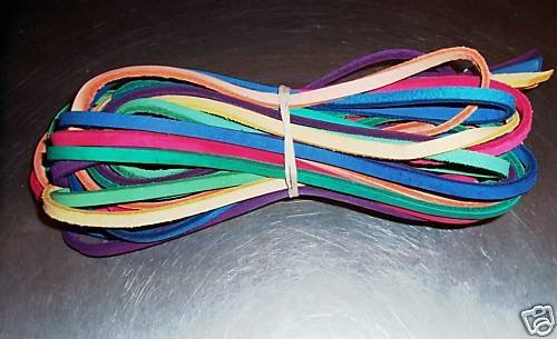 """35' 3/16"""" Colored Leather bird toy parts parrots cages"""