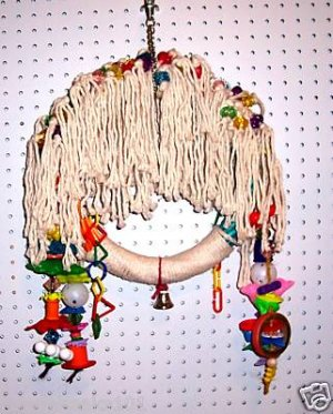 SUPER SHAGGY SWING bird toy parrots cages perches rope