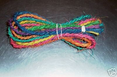 35' Colored Coconut Rope bird toy parts parrots crafts