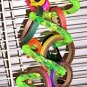 LRG ACRYLIC SWIRLY Purple bird toy parts parrots cages perch