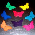 8 Colored Leather Butterflies Med bird toy parts parrots pets