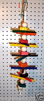 RAWHIDE MUNCHER bird toy parts 4 parrots cages perches